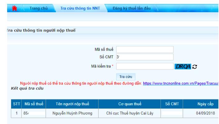 Tra cứu mã số thuế cá nhân online bằng CMND đơn giản nhất